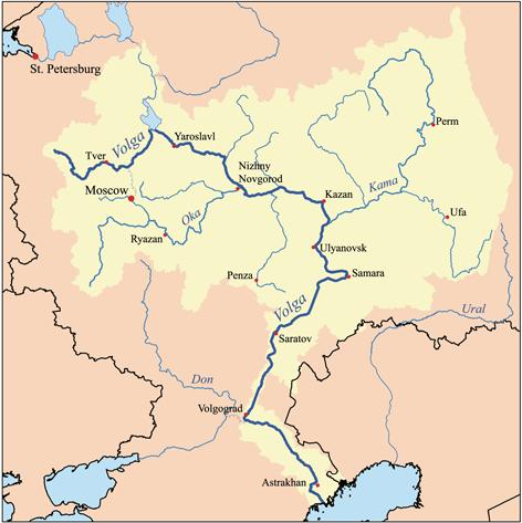 Valkos baseinas su Dono, Dniepro, Valkuvos ir Šiaurės Dvynios takoskyra