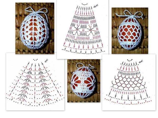 Вязаные мешочки для яиц схема