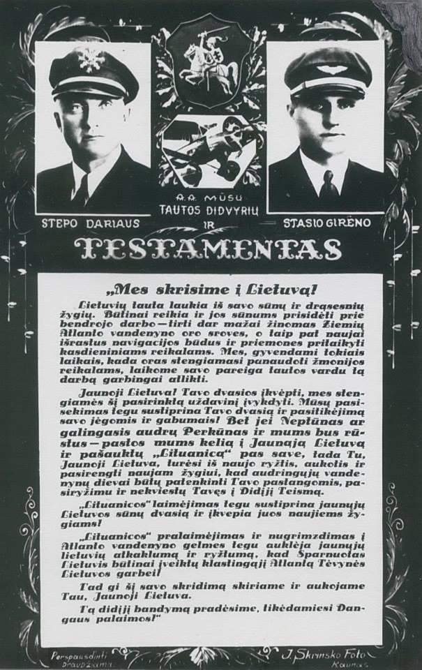 Dariaus ir Girėno priesakai Jaunajai Lietuvai