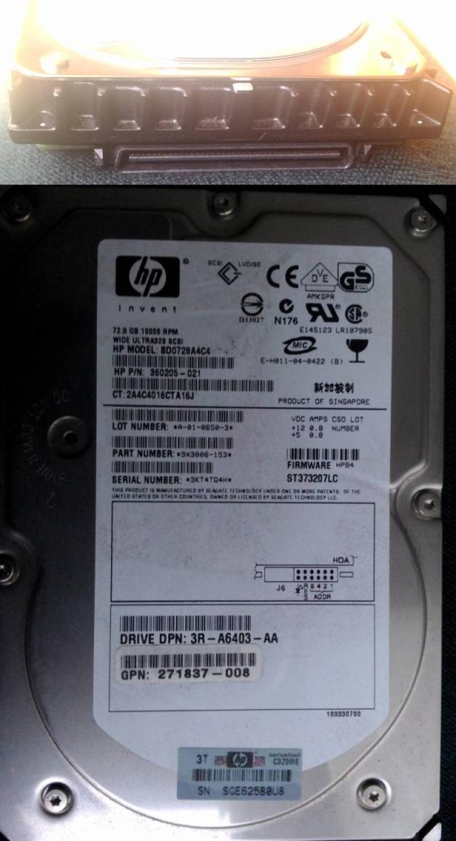 HDD Wide Ultra320 SCSI SCA2 LVD SE